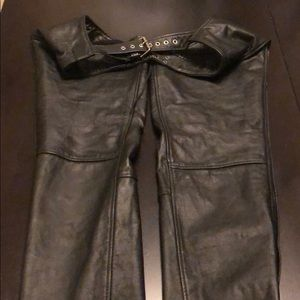 Leather chaps, size XS